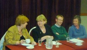 Inez McCormack with Patricia McKeown, Alan McBride & Geraldine Finucane