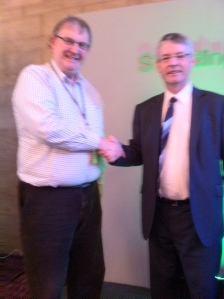 Michael Fisher & NUJ President Barry McCall