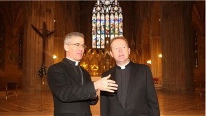 Monsignor Eamon Martin (right) Photo: Irish Bishops' Conference