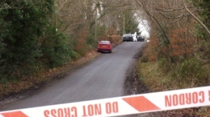 Police cordon at Aghindarragh Road