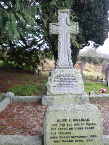 Grave of Alice Milligan