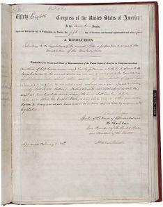13th Amendment US Constitution (Credit: NARA)