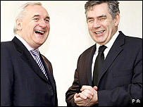 Bertie Ahern & Gordon Brown (PA Pool Picture)