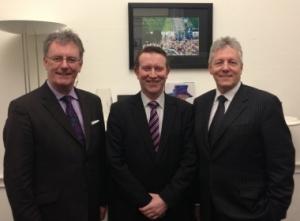 Nigel Lutton (centre) -- DUP picture