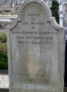 Sarah Purser grave