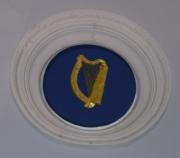 Presidential harp on ceiling