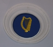 Presidential harp on ceiling