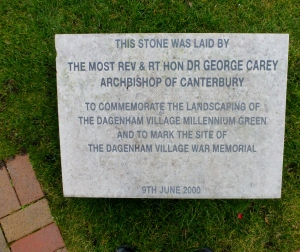 Millennium Green Plaque