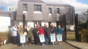 BBC Radio Foyle picket