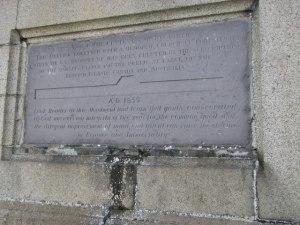 Adam Clarke Obelisk Plaque