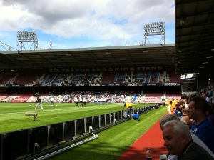 Trevor Brooking Stand with away fans