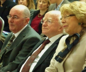 Vinny McCormack, President Higgins & Sabina Higgins