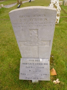 Grave of Sgt Martin O'Brien MM