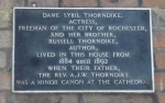 Plaque marks the house