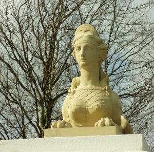 Sphinx Statue at Gate Lodge