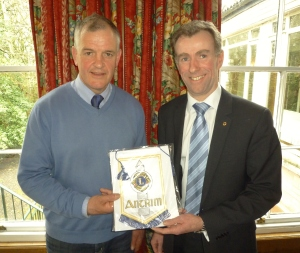 Brian McLaughlin & Antrim Lions President Barry Warwick
