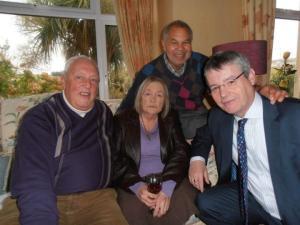 John Devine, Lionel Morrison & Barry McCall with Rosaline