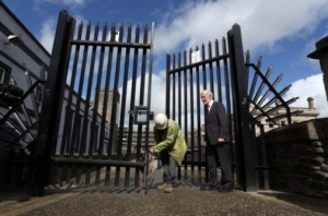 Removal of Security Gates: Photo Lorcan Doherty