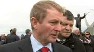 Taoiseach Enda Kenny in Knock (Picture RTÉ News)