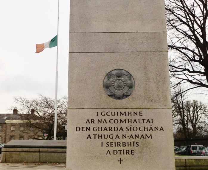 Memorial at Garda HQ