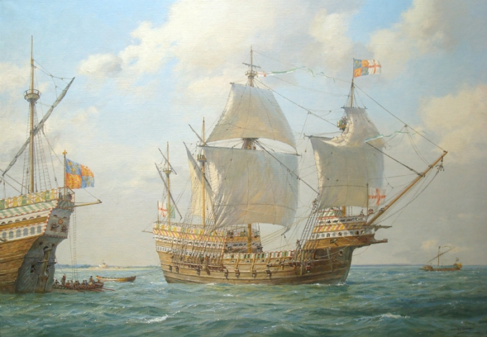 The Mary Rose: Geoff Hunt painting