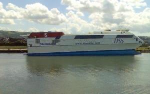 Stena HSS Craft in Belfast Port