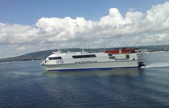 Stena HSS craft in Belfast Lough