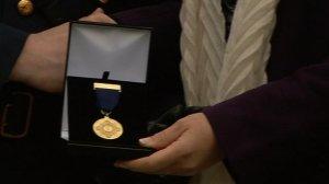 Garda Remembrance Medal (RTE picture)
