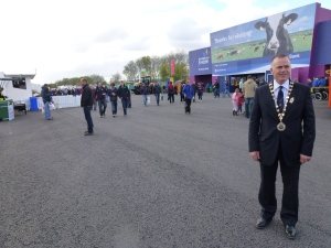 RUAS President John Bamber at Balmoral Show entrance
