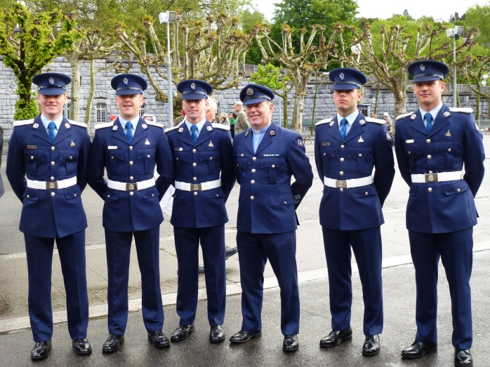 Air Corps cadets & chaplain Fr Gerry Carroll