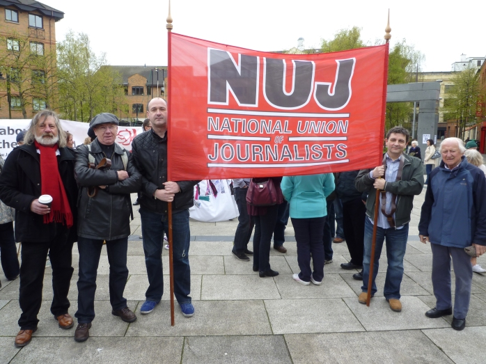 NUJ Members at May Day March