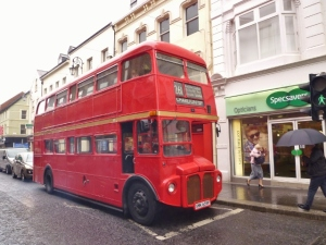 Routemaster bus in (London)Derry