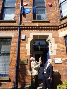 Plaque unveiled by Richard Hayward;s son & grandson