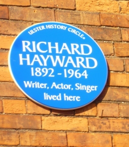 Richard Hayward Blue Plaque, Antrim Road Belfast
