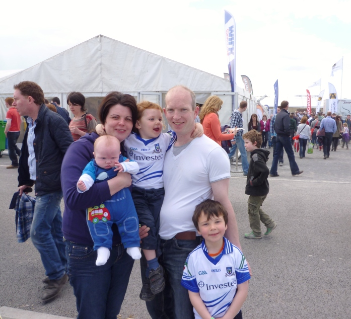 Joe McCarey, Dundian, his wife Pauline & three sons, baby Páidí, Darragh and Cathal