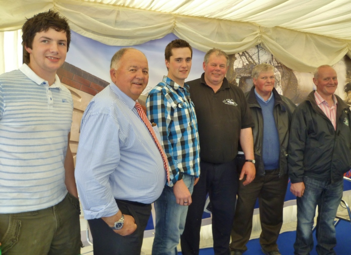 Trevor Keith, Glaslough, Hugo Maguire, TMC Ltd., Brendan Greenan, Ardaghy, David Boyd, Glaslough, Eddie Rafferty, Tydavnet, Paddy Rafferty, Monaghan at TMC stand
