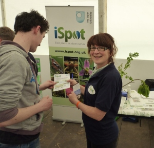 Gretta McCaron, Monaghan, at the iSpot stand for identifying plants and wildlife