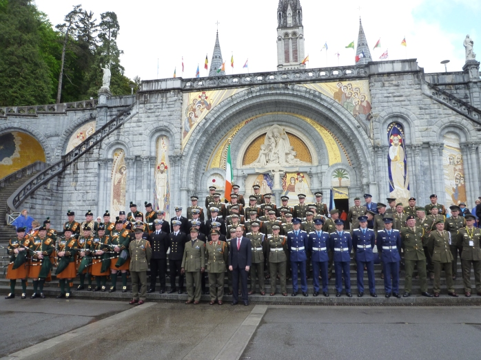 Defence Forces members on International Military Pilgrimage to Lourdes