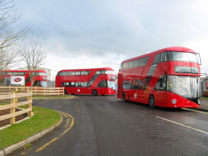 New Routemasters leaving Wrightbus