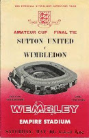 Programme for 1963 Amateur Cup Final at Wembley