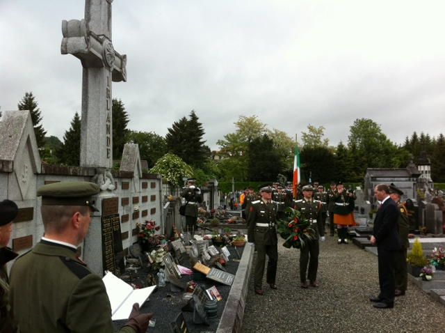 Minister of State Paul Kehoe TD lays wreath at Irish memorial in Lourdes