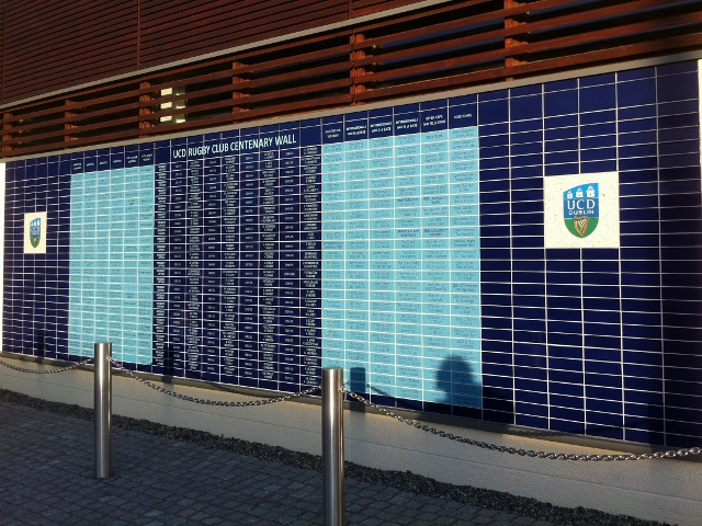 UCD Rugby Club Centenary Wall