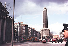 Nelson Pillar after the explosion March 1966 NLI Ref.: WALK138A  National Library of Ireland on The Commons @ Flickr Commons