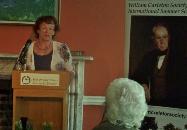 Patricia Cavanagh, Tydavnet, at William Carleton summer school launch