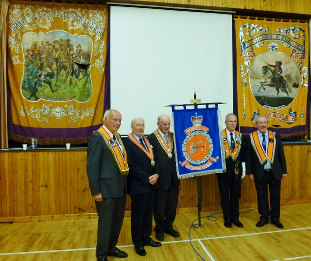 Bannerette unveiled by Grand Master