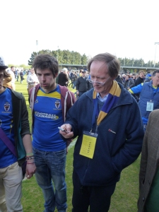 CEO AFC Wimbledon Erik Samuelson (on right)