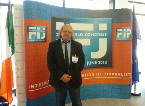 IFJ President Jim Boumelha