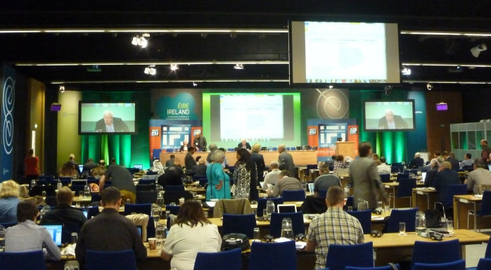 IFJ Congress in session at Dublin Castle