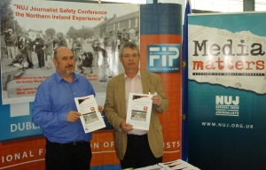 Kevin Cooper, Belfast & District Branch with NUJ President Barry McCall