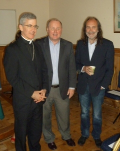 Archbishop Charles Brown, Fr Pat McDevitt CM, John Waters